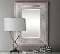 Inspired by sculptures, the Wicklow Iron Wall Mirror is striking piece of art. Its hand-forged metal frame and distressed ivory finish make it an ironclad design choice. Mirror Art, Floor Mirror, Beaded Mirror, How To Clean Mirrors, Wall Candle Holders, Monogram Wall, Forging Metal, Crystal Shop, Custom Rugs