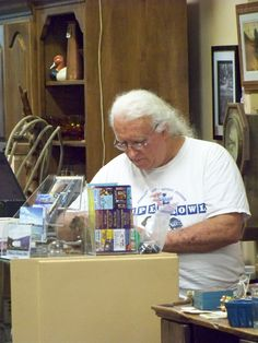 Ron Wicket tending the Company Store in Harrison