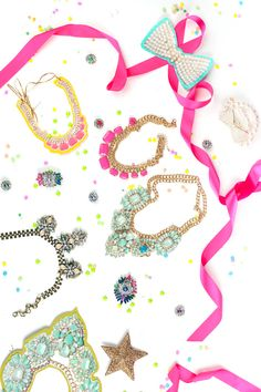 DIY Free Printable Paper Party Jewels by Handmade Charlotte