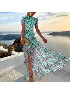 50 Fashion, Fashion Outfits, Cute Country Outfits, Beautiful Maxi Dresses, Boho Dress, Green Dress, Dress To Impress, Dresses Online, Girls Dresses
