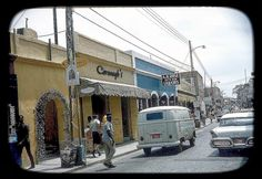 Wonderful Color Photo of Main Street, St. Thomas, U.S. Virgin Islands ~ 1964