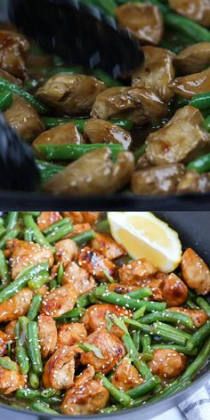 Healthy Dinner Recipes, Soup Recipes, Chicken Recipes, Cooking Recipes, Chicken Beans Recipe, Chicken Green Beans, Stir Fry Recipes, Healthy Chicken, Sopas Low Carb