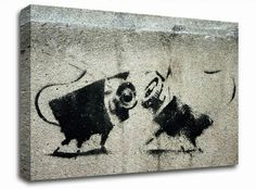 Animal Cameras banksy canvas from only £19.99 at Infusion Art http://www.infusionart.co.uk/products/Animal-Cameras-242057.aspx