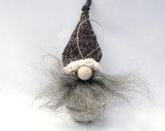 Forest Gnome, Christmas Gnome, Christmas Ornament, Tree Ornament, Gift For Dad, Felt Ornament, Santa Ornament, Elf Ornament, Gnome decor