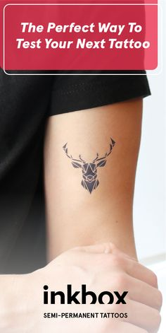 #inkbox tattoos are the perfect way to test drive your next tattoo. Semi-permanent tattoos last 8-18 days and fade away naturally. Over 900+ designs or create your own on inkbox.com