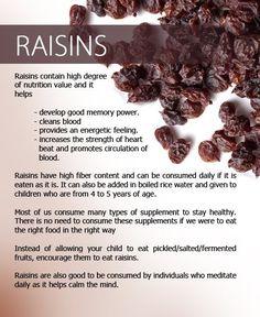 Health And Medicinal Benefits Of Raisins
