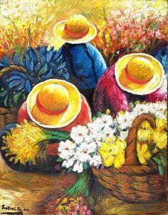 Acrilico texturado                                                                                                                                                                                 Más Art And Illustration, Mexican Paintings, Peruvian Art, Latino Art, Mexico Art, Southwest Art, Mexican Folk Art, Naive Art, Artist Art