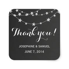 Light String Chalkboard Square Stickers