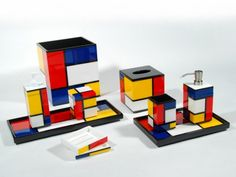 Bath Set-Mondrian Inspired