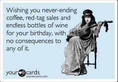 happy birthday best friend ecard wine - Google Search
