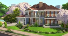 Sims 4 House Building, Sims House Plans, Sims 4 Pets, Sims 4 House Design, The Sims 4 Lots, Sims 4 Characters, Sims 4 Cc Furniture, Sims Ideas, Nice Houses