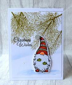 Mikey's Mom: Gnome Season Christmas card Source by card Cas Christmas Cards, Stamped Christmas Cards, Homemade Christmas Cards, Christmas Gnome, Christmas Gift Tags, Homemade Cards, Holiday Cards, Christmas Crafts, Xmas Cards Handmade