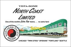 Northern Pacific North Coast Limited Poster - A-Trains.com