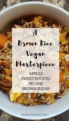 Brown Rice With Apples And Everything Else
