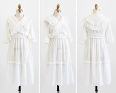 antique Edwardian dress / 1910s dress / White by RococoVintage
