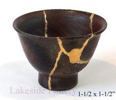 bizen japanese antique pottery sake cup