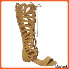 Forever Link Women's Caren-11 Gladiator Sandals,Mustard,8 - Sandals for women (*Amazon Partner-Link)