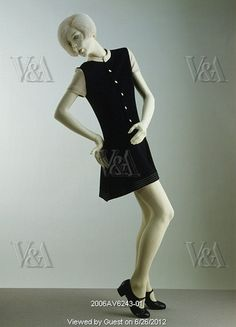 Mini-dress, by Mary Quant. London, UK, 1967. EDITORIAL USE ONLY