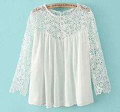 ABC New Summer Women Fashion Casual Lace Shirts Chiffon Blouses T-shirt Tops