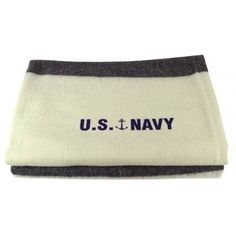 """U.S. NAVY WOOL BLANKET An absolute beautiful reproduction of the U.S. Navy wool blanket. They measure a very nice 60""""x82"""". They weigh 4.4 lbs and are 80% wool. Extremely soft to the touch. Another fantastic item from our Swiss Link classic wool line."""