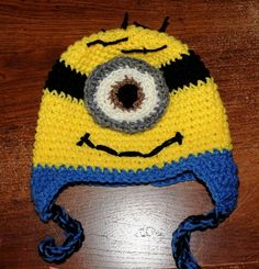 One Eyed Dispicable Me Crochet Minion by MyLittleHeartStrings