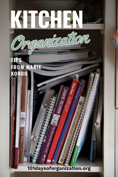 It's time to organize your kitchen with Marie Kondo's kitchen organization tips, because these are tips everyone can use! Marie is leading edge! Kitchen Cupboard Organization, Freezer Organization, Countertop Organization, Small Kitchen Storage, Organization Hacks, Organizing, Binder Storage, Beautiful Kitchen Designs, Marie Kondo