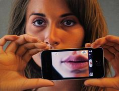 Let the technology do the talking for you #AndrewValko's Lip Service on view at Douglas Udell Gallery. Alone Together opens this Saturday. Stop in for a chance to meet the artist during the opening reception between 2-4 pm. Who says realism is dead?