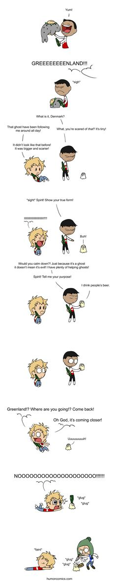 The Scariest Ghost Ever - Scandinavia and the World This made me laugh harder than it should Funny Cute, The Funny, Hilarious, Funny Meme Pictures, Funny Memes, Satw Comic, Funny Comics, Hetalia, Comic Strips