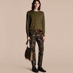 Shop Now - >  https://api.shopstyle.com/action/apiVisitRetailer?id=542774245&pid=uid6996-25233114-59 Burberry Crew Neck Cashmere Sweater  ...