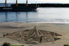 3D Sand Drawings by 3DSD