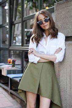 Fashion and style: Asymmetric skirt