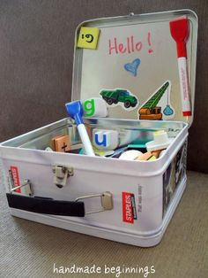 Travel Activity Box - great idea