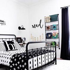 Trendy Bedroom Black And White Men Boy Rooms Ideas Boys Black And White Bedroom, White Kids Bed, White Rooms, Blue Bedroom, Trendy Bedroom, White Bedroom Furniture, Bedroom Decor, Bedroom Ideas, Decor Room
