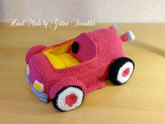 SALE Knitted Car-cabriolet gift by SavushkaDesigns on Etsy