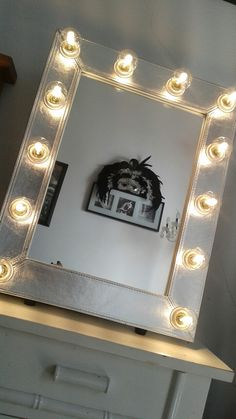 #loving my #silver #leather #broadway #mirror from reflectionsofme.co.uk . Makes me feel like a #hollywoodstar !! A★★★★★