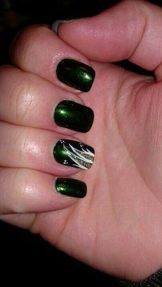 #emerald #green #nail #design