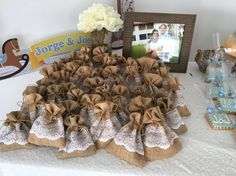 Baby shower rustic