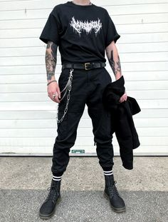 Aesthetic Grunge Outfit, Aesthetic Clothes, Edgy Outfits, Fashion Outfits, Soft Grunge Outfits, Urban Outfits, Style Masculin, Mode Style, Mens Clothing Styles