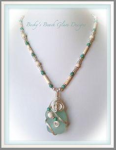 Sand & Sea Bermuda Sea Foam Sea Glass Pendant Necklace, $47.00