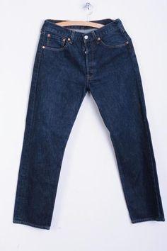 Levi's Mens W31 L30 Trousers Jeans Cotton Dark Blue Denim - RetrospectClothes