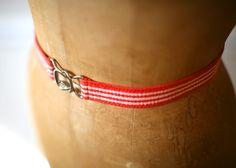 1970s Peppermint Stripe Belt