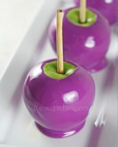 Purple Grape Candy Apples