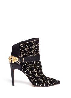 $295.08 Mila rhinestone embellished hardware buckle boots