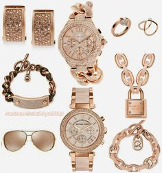 Michael Kors Rose Gold Jewelry and Watches