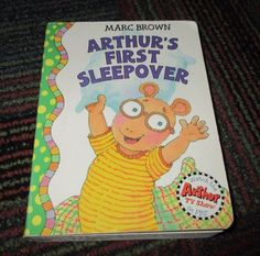 ARTHUR'S FIRST SLEEPOVER BOARD BOOK BY MARC BROWN, GREAT READ, GUC