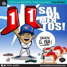 """#ElCartonDelDia para @PurakuraWeb """"ENCONTRÓ EL PAR DE SOX"""" @RobertoOsuna1 @BlueJays vs @RedSox"""
