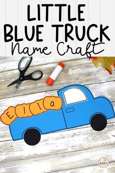 Are you looking for a craft to do with your class during the month of October or November? If your class has been learning about pumpkins, then you will LOVE this little blue truck craft! This bulletin board set makes an adorable display for the fall months. Students will have so much fun cutting and pasting their blue truck together and then adding pumpkins in the back. Students can write 1 letter of his/her name onto each pumpkin to complete the craft. Preschool Art Projects, Kindergarten Literacy, Preschool Activities, Teaching Resources, Teaching Ideas, First Grade Crafts, Truck Names, Truck Crafts, Name Crafts