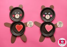 I love you beary much valentines plates  http://www.meetthedubiens.com/2012/02/i-love-you-beary-much-valentines-plates.html