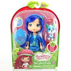 "Strawberry Shortcake 6 inch Fashion Doll with Pet - Blueberry with Scouty -  The Bridge Direct - Toys""R""Us"