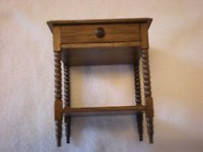 Dollhouse Miniature Side Table with Drawer by Artisan Gerald Crawford